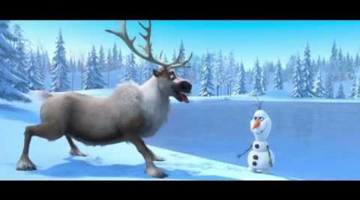 Risanka Frozen – Snežak Olaf in jelen Sven