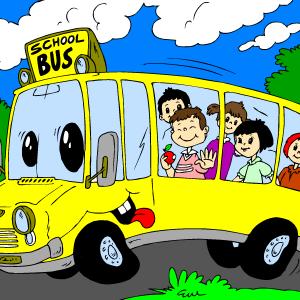 Pobarvanka za otroke – Šolski avtobus