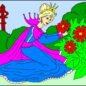 Princesa v parku