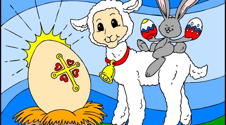 Velikonočno jagnje, jajce in zajček
